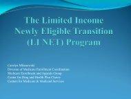 LI NET - Centers for Medicare & Medicaid Services