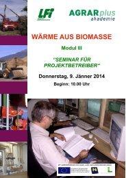 Einladung Modul III .pdf - Agrar Plus