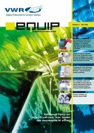 table des matières - VWR-International GmbH