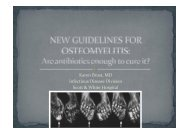 New Guidelines for Osteomyelitis - Healthcare Professionals