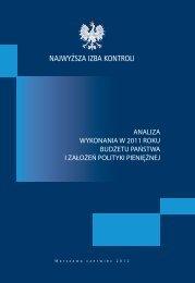 Analiza wykonania budżetu państwa i założeń polityki pieniężnej w ...