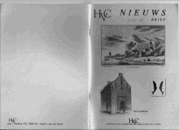 Nieuwsbrief 1996 07 (juli) - Historische Vereniging Capelle aan den ...