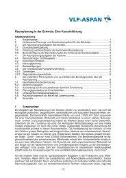 Raumplanung in der Schweiz: Eine Kurzeinführung - vlp-aspan