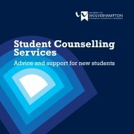 Student Counselling Services - University of Wolverhampton