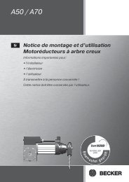 Notice de montage et d'utilisation - Becker-Antriebe International