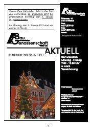 Mitglieder-Info 2/2011 - Gemeinnützige Baugenossenschaft Wittlich ...