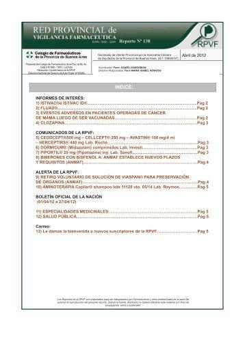 información… - Colegio de Farmacéuticos de la provincia de ...