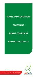 TERMS AND CONDITIONS GOvERNING SHARIA ... - Rakbank