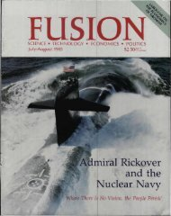 Admiral Rickover and the Nuclear Navy