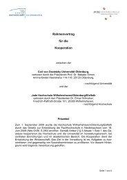 Rahmenvertrag für die Kooperation - Personalrat - Universität ...