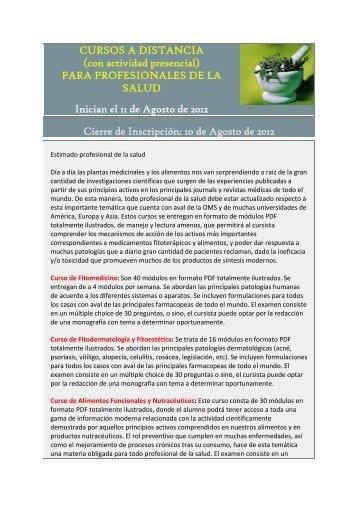 CURSOS A DISTANCIA (con actividad presencial) PARA ...