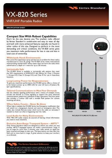 Vertex Standard 820 Series - Sigma Wireless