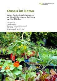 Oasen im Beton. Urban Gardening als Instrument zur Attraktivierung ...