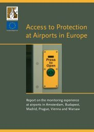 Access to Protection at Airports in Europe - Magyar Helsinki Bizottság