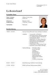 Lebenslauf - Forum Study Nurses & Coordinators