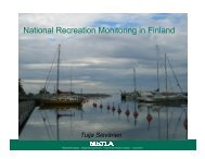 presentation on national recreation monitoring in Finland