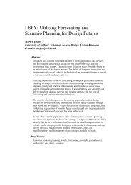 I-SPY: Utilising Forecasting and Scenario Planning for Design Futures