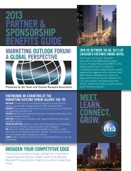 partner & sponsorship guide - Travel & Tourism Research Association