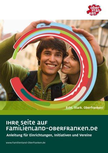 Anleitung für Einrichtungen, Initiativen und Vereine - Familienland ...
