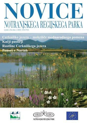 5. številka Novic Notranjskega regijskega parka - Presihajoče ...