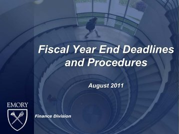 Year-End Process - Emory Finance