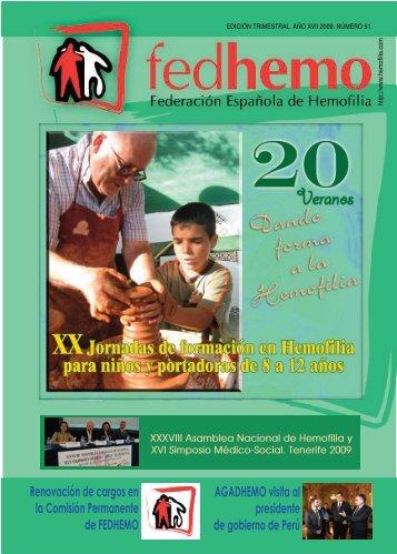 Revista Fedhemo Nº 51 - Hemofilia