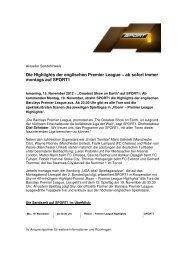 Die Highlights der englischen Premier League – ab sofort ... - Sport1