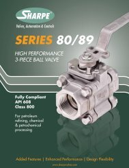 SERIES 80/89 - Sharpe® Valves