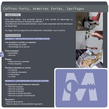 Coffres-forts, Armoires fortes, Ignifuges - madelin sa