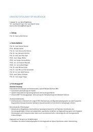 universitätsklinik für neurologie - Otto-von-Guericke-Universität ...