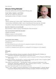 Director Erling Birkedal - Religionspedagogiskt idéforum
