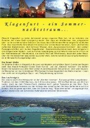 Kfagenfurt - ein Sommer nac/itstraum..