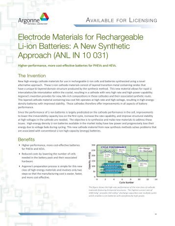 Electrode Materials for Rechargeable Lithium-Ion Batteries: A New ...
