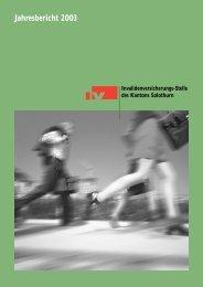 Jahresbericht 2003 - IV-Stelle des Kantons Solothurn