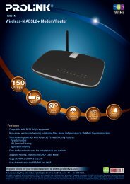 Wireless-N ADSL2+ Modem/Router - Prolink