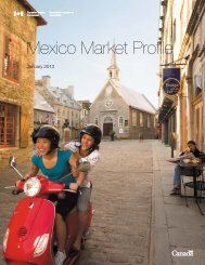 Mexico Market Profile - Canadian Tourism Commission - Canada