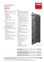 Heating Power Card HPC 24/08 - PSG Plastic Service GmbH