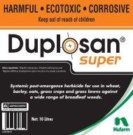 Duplosan Super 10L Label - Nufarm