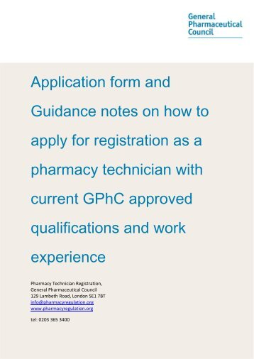 Application form and Guidance notes on how to apply for registration ...