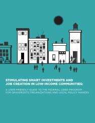 stimulating smart investments and job creation in low-income ...