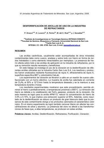 Orosco, P., D. Lavarra, E. Perino, M. del C. Ruiz y J. González. 2008.