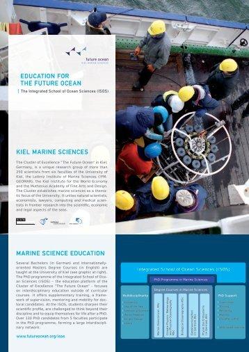 EDUCATION FOR THE FUTURE OCEAN KIEl mARINE SCIENCES ...