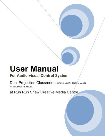 User Manual For Audio-visual Control System