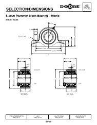 SELECTION/DIMENSIONS S-2000 Plummer Block ... - PTplace.com