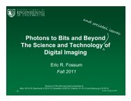 Photons to Bits and Beyond The Science and ... - Eric Fossum