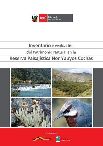 Reserva Paisajística Nor Yauyos Cochas - CDAM - Ministerio del ...
