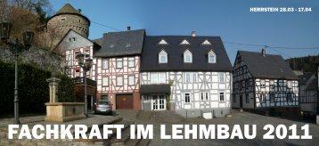 FACHKRAFT IM LEHMBAU 2011 - Dachverband Lehm e.V.