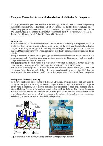 Single Side Stitching, an innovative textile ... - Mechanical Engineering