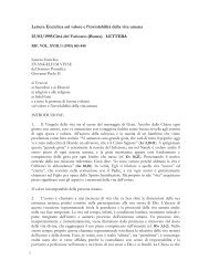 Lettera Enciclica sul valore e l'inviolabilitā della ... - ArezzoGiovani.it
