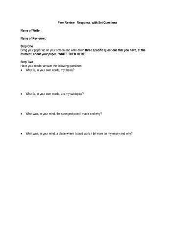 peer evaluate inquiries for argumentative essays